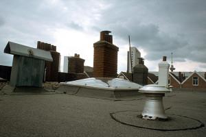 Op een dak