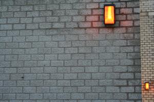 Lamp en lamp wenskaart