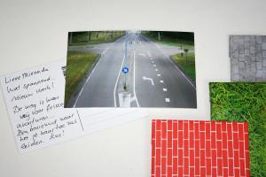 Groeten uit Almere wenskaart met verpakking